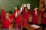K-8 Parochial School Bronx New York Kindergarten art enrichment music group singing song with hand gestures