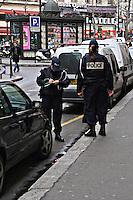 Police officers issuing parking tickets Paris..©shoutpictures.com.john@shoutpictures.com
