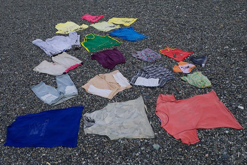 Drying Cloths at the Bangui beach Ilocos Norte, Philippines
