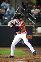 Aberdeen Ironbirds third baseman Austin Pfeiffer (23) at bat during a game against the Tri-City ValleyCats on August 6, 2015 at Ripken Stadium in Aberdeen, Maryland.  Tri-City defeated Aberdeen 5-0 in a combined no-hitter.  (Mike Janes/Four Seam Images)