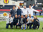 22.05.2021 Scottish Cup Final, St Johnstone v Hibs: Callum Davidson and his backroom team