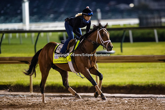 April 29, 2021: Sainthood gallops in preparation for the Kentucky Derby at Churchill Downs in Louisville, Kentucky on April 29, 2021. EversEclipse Sportswire/CSM