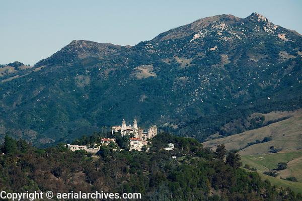 aerial photograph of Hearst Castle, San Simeon, San Luis Obispo County, California