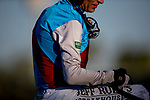 October 02, 2021: Medina Spirit with John Velazquez leads the field in the Awesome Again Stakes at Santa Anita Park in Arcadia, California on October 02, 2021. Evers/Eclipse Sportswire/CSM
