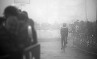 2013 Giro d'Italia.stage 14: Cervere - Bardonecchia.168km..Movistar rider in the last meters of the Bardonecchia (Jafferau / 1908m) climb