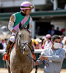 APRIL 30, 2021:  Obligatory with Jose Ortiz wins the Smithfield Eight Belles Stakes at Churchill Downs in Louisville, Kentucky on April 30, 2021. EversEclipse Sportswire/CSM