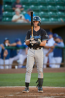 Carson Maxwell (24) of the Missoula Osprey at bat against the Ogden Raptors at Lindquist Field on August 12, 2019 in Ogden, Utah. The Raptors defeated the Osprey 4-3. (Stephen Smith/Four Seam Images)