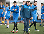 St Johnstone Training….31.03.17<br />Graham Cummins pictured with manager Tommy Wright during training on the astroturf at McDiarmid Park this morning ahead of tomorrow's game at Hamilton.<br />Picture by Graeme Hart.<br />Copyright Perthshire Picture Agency<br />Tel: 01738 623350  Mobile: 07990 594431