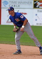 August 16, 2003:  First baseman Josh Whitesell of the Vermont Expos, Short Season Class-A affiliate of the Montreal Expos, during a NY-Penn League game at Dwyer Stadium in Batavia, NY.  Photo by:  Mike Janes/Four Seam Images