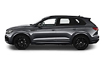 Car Driver side profile view of a 2021 Volkswagen Touareg R 5 Door SUV Side View