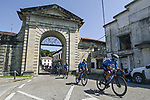 The peloton led by Movistar Team during Stage 16 of La Vuelta d'Espana 2021, running 180km from Laredo to Santa Cruz de Bezana, Spain. 31st August 2021.     <br /> Picture: Charly Lopez/Unipublic   Cyclefile<br /> <br /> All photos usage must carry mandatory copyright credit (© Cyclefile   Unipublic/Charly Lopez)