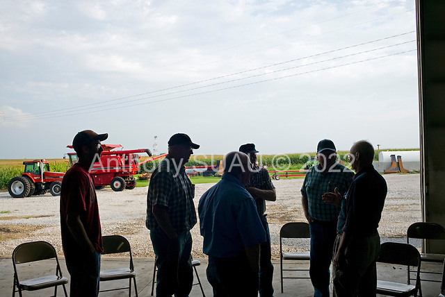 "Kelley, Iowa<br /> August 28, 2014<br /> <br /> Since the 1970's Don Huber, an Emeritus Professor of Plant Pathology at Perdue University, has been studying the environmental and human effects of ""glyphosate"", the primary broad-spectrum systemic herbicide used to kill weeds on more than 80% of American farms. He discusses with Iowa corn and soy farmers the short and long term harmful effects of the pesticides, herbicides and fungicides they use and they listen intensely.<br /> <br /> He is accompanied by Iowan Bob Streit who graduated with degrees in Plant Pathology, Pest Management, and Agronomy."