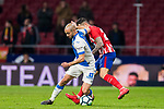 Nourredine Amrabat (L) of CD Leganes in action Victor Machin, Vitolo, of Atletico de Madrid during the La Liga 2017-18 match between Atletico de Madrid and CD Leganes at Wanda Metropolitano on February 28 2018 in Madrid, Spain. Photo by Diego Souto / Power Sport Images
