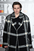 Brooklyn Beckham<br /> arrives for the BRIT Awards 2017 held at the O2 Arena, Greenwich, London.<br /> <br /> <br /> ©Ash Knotek  D3233  22/02/2017