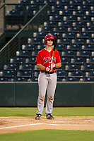 AZL Angels catcher Erven Roper (97) at bat against the AZL White Sox on August 14, 2017 at Diablo Stadium in Tempe, Arizona. AZL Angels defeated the AZL White Sox 3-2. (Zachary Lucy/Four Seam Images)