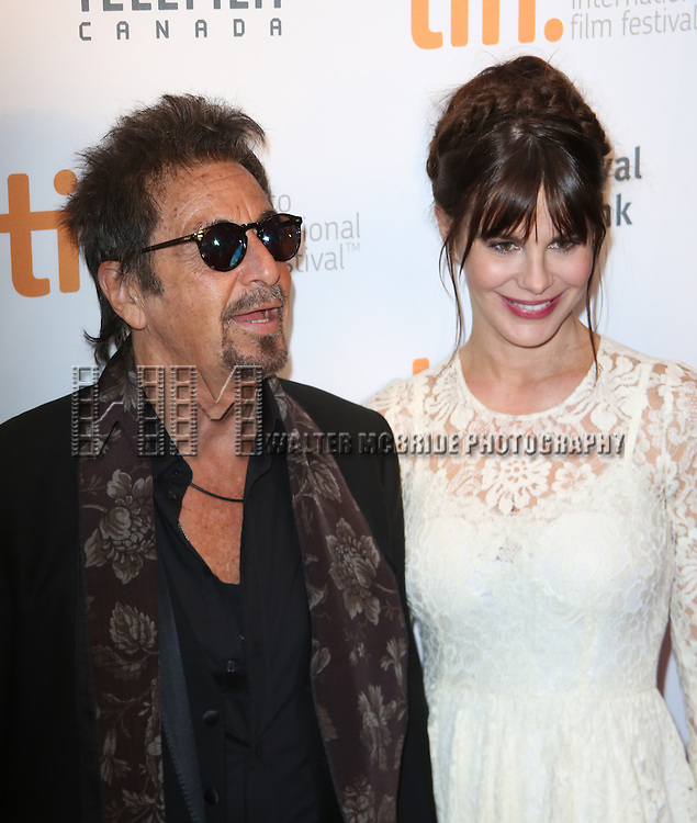 Al Pacino and Lucila Sola attend TIFF's 3rd Annual Gala Event 'In Conversation With Al Pacino' at the Tiff Lightbox on September 3, 2014 in Toronto, Ontario, Canada
