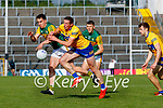 Brian Ó Beaglaoich, Kerry, in action against Cathal O Connor, Clare, during the Munster Football Championship game between Kerry and Clare at Fitzgerald Stadium, Killarney on Saturday.