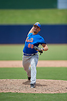 GCL Mets relief pitcher Kyle Wilson (89) delivers a pitch during the second game of a doubleheader against the GCL Nationals on July 22, 2017 at The Ballpark of the Palm Beaches in Palm Beach, Florida.  GCL Mets defeated the GCL Nationals 4-1.  (Mike Janes/Four Seam Images)