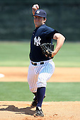 March 31, 2010:  Pitcher Adam Warren of the New York Yankees organization during Spring Training at Yankees Training Complex in Tampa, FL.  Photo By Mike Janes/Four Seam Images