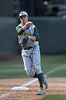 Scott Heineman #6 of the Oregon Ducks before a game against the UCLA Bruins at Jackie Robinson Stadium on April 6, 2012 in Los Angeles,California. Oregon defeated UCLA 8-3.(Larry Goren/Four Seam Images)