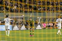 Portland, Oregon - Wednesday September 25, 2019: Diego Valeri #8 reacts after missing a shot during a regular season game between Portland Timbers and New England Revolution at Providence Park on September 25, 2019 in Portland, Oregon.