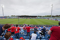 6th June 2021, Stade Josy Barthel, Luxemburg; International football friendly Luxemburg versus Scotland;  Fans in the stands show their support for their team