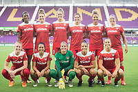 Orlando, FL - Tuesday August 08, 2017: Washington Spirit  during a regular season National Women's Soccer League (NWSL) match between the Orlando Pride and the Chicago Red Stars at Orlando City Stadium.