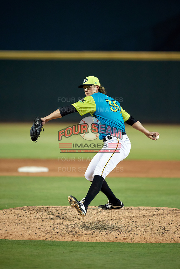 Bradenton Barbanegras pitcher Shea Murray (35) during a Florida State League game against the St. Lucie Mets on July 27, 2019 at LECOM Park in Bradenton, Florida.  Bradenton defeated St. Lucie 3-2.  (Mike Janes/Four Seam Images)