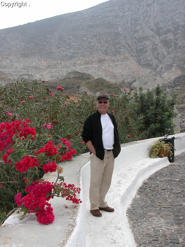 Guy in Santorini, Greece