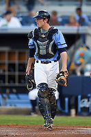 Charlotte Stone Crabs catcher Justin O'Conner (11) during a game against the Palm Beach Cardinals on April 12, 2014 at Charlotte Sports Park in Port Charlotte, Florida.  Palm Beach defeated Charlotte 6-2.  (Mike Janes/Four Seam Images)