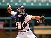 Belen Jesuit Wolverines catcher Gio Cueto (14) during practice before the 42nd Annual FACA All-Star Baseball Classic on June 5, 2021 at Joker Marchant Stadium in Lakeland, Florida.  (Mike Janes/Four Seam Images)