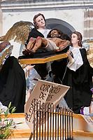 Antigua, Guatemala.  Good Friday Procession.  Angels Accompanying Christ after the Crucifixion, El Señor Sepultado.