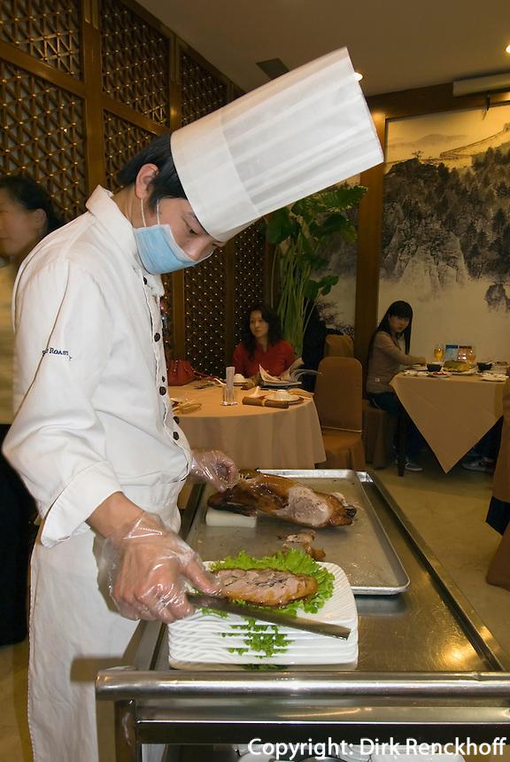 China, Peking (Beijing), Pekingenten-Restaurant Beijing da Dong Roast Duck, Tuanjiehu Beikou 3