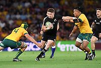 7th November 2020, Brisbane, Australia; Tri Nations International rugby union, Australia versus New Zealand;  Beauden Barrett of the All Blacks in action
