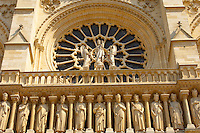 Paris - France - Notre Dame - Front with Sataues