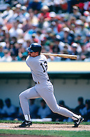OAKLAND, CA - Wade Boggs of the New York Yankees in action during a game against the Oakland Athletics at the Oakland Coliseum in Oakland, California in 1994. Photo by Brad Mangin