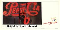 Printer's proof, Pepsi Cola ad, BBDO, 1966. Photo by John G. Zimmerman.