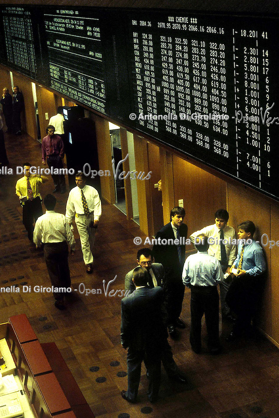 Borsa di Francoforte.Frankfurt Stock Exchange...
