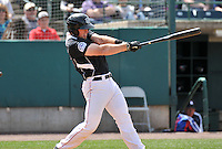 Tom Murphy (9) of the New Britain Rock Cats bats during a game between the New Britain Rock Cats and the New Hampshire Fisher Cats at New Britain Stadium on April 19, 2015 in New Britain, Connecticut.<br /> (Gregory Vasil/Four Seam Images)