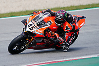 31st  March 2021; Barcelona, Spain; World Superbike testing at Circuit Barcelona-Catalunya;   Scott Redding (GBR) riding Ducati Panigale V4 R for Aruba.IT Racing - Ducati