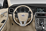 Car pictures of steering wheel view of a 2018 Volvo V60 T5 5 Door Wagon Steering Wheel
