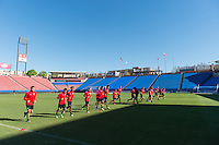 FRISCO, TX - March 28, 2016: The US U-23 Men's National team training day for the upcoming Columbia match at the Toyota Stadium.