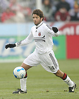 Ben Olsen pounces on a loose ball. In their first game in their new stadium Colorado Rapids held on to beat DC United 2-1 at Dick's Sporting Goods Park in Commerce City, Colorado on April 7 2007 before the first sellout crowd in Rapids history.