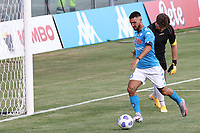 Matteo Politano of SSC Napoli scores a goal during the friendly football match between SSC Napoli and Castel di Sangro Cep 1953 at stadio Patini in Castel di Sangro, Italy, August 28, 2020. <br /> Photo Cesare Purini / Insidefoto