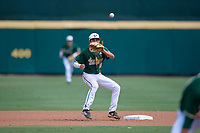 USF Bulls shortstop Nick Gonzalez (2) waits to receive a throw during a game against the Dartmouth Big Green on March 17, 2019 at USF Baseball Stadium in Tampa, Florida.  USF defeated Dartmouth 4-1.  (Mike Janes/Four Seam Images)