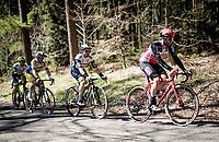 Tomasz Marczyński (POL/Lotto Soudal) in the breakaway of the day, up the Côte de Wanne<br /> <br /> 107th Liège-Bastogne-Liège 2021 (1.UWT)<br /> 1 day race from Liège to Liège (259km)<br /> <br /> ©kramon