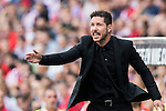 Coach Diego Simeone of Atletico Madrid in action during their La Liga match between Atletico Madrid and Deportivo de la Coruna at the Vicente Calderon Stadium on 25 September 2016 in Madrid, Spain. Photo by Diego Gonzalez Souto / Power Sport Images