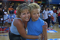 "©2002 KATHY HUTCHINS / HUTCHINS PHOTO.""LIKE MIKE"" PREMIERE .WESTWOOD, CA  6/27/02.JONATHAN LIPNICKI.AND MOM"