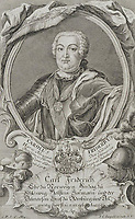 Portrait of Duke Charles Frederick of Holstein-Gottorp (1700-1739)<br /> Artist:Leopold, Johann Christian(1699-1755)<br /> Museum:State Hermitage, St. Petersburg<br /> Method:Copper engraving<br /> Created:Mid of the 18th cen.<br /> School:Germany<br /> Trend in art:Rococo