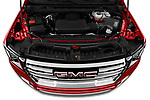 Car Stock 2021 GMC Yukon SLT 5 Door SUV Engine  high angle detail view